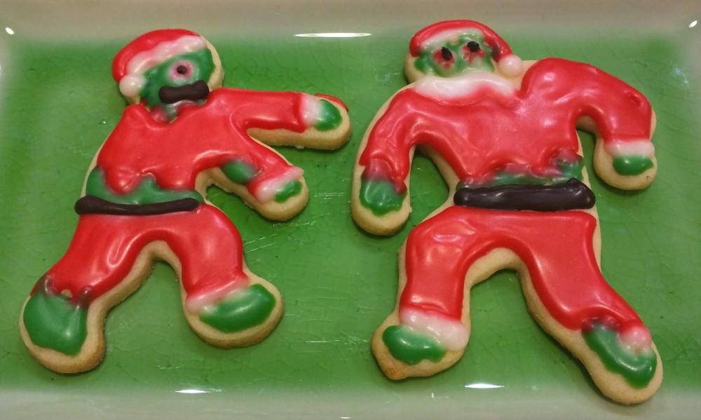 Zombie Santa Cookies