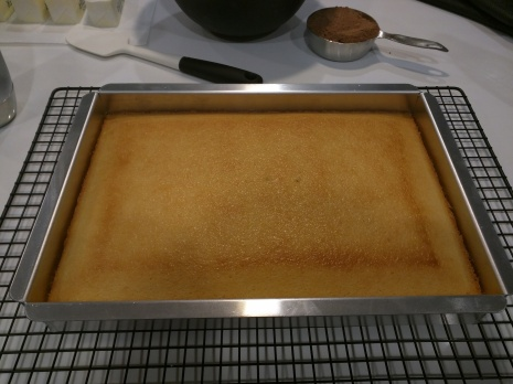Step 1: Bake the cake! This is a 13x8 standard sized cake pan. Recipe is http://iambaker.net/the-perfect-white-cake/ I made 2 of these.